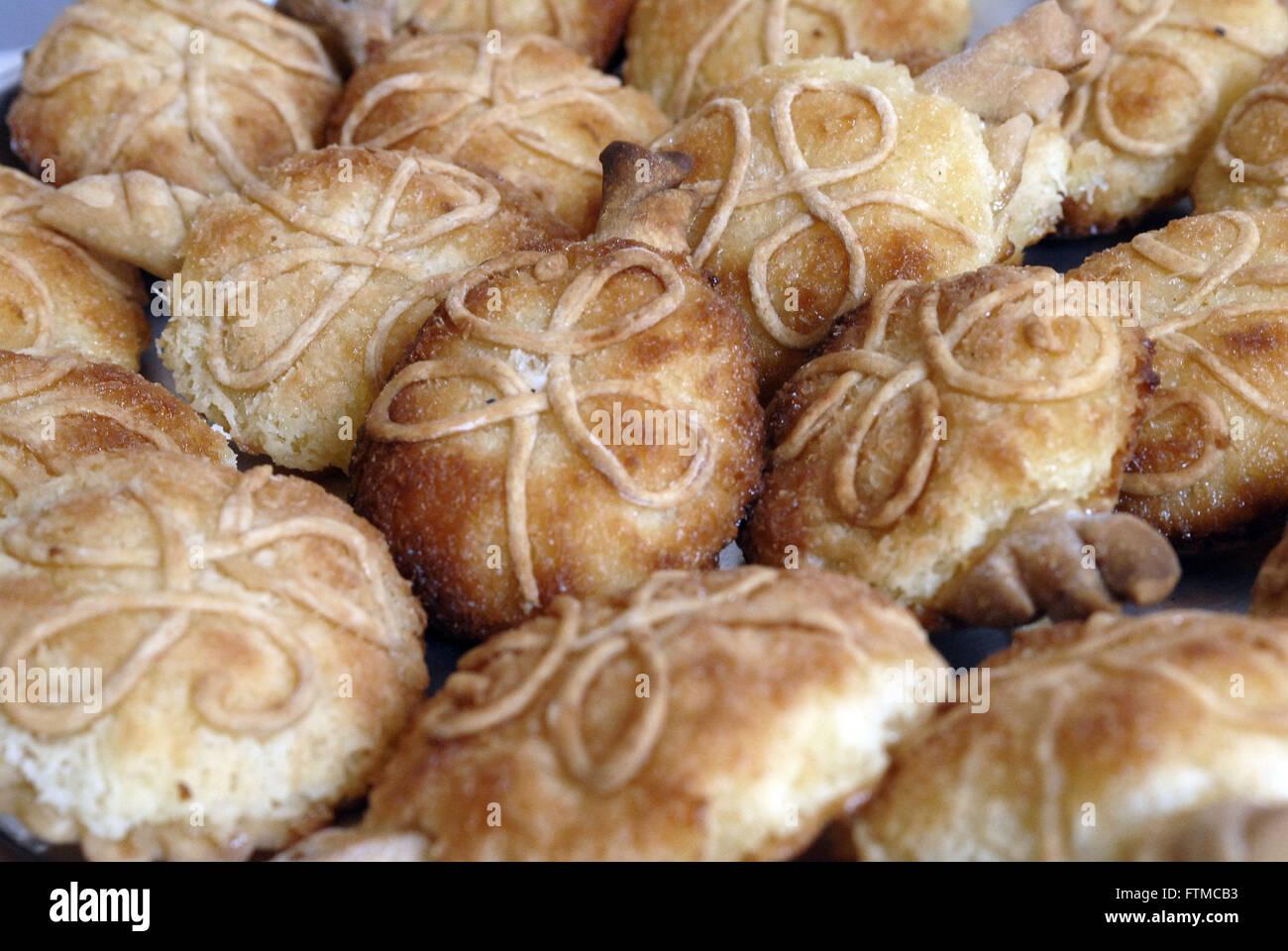 Especie dolce - dolce caratteristico di noce di cocco città delle Azzorre di Alcantara Immagini Stock