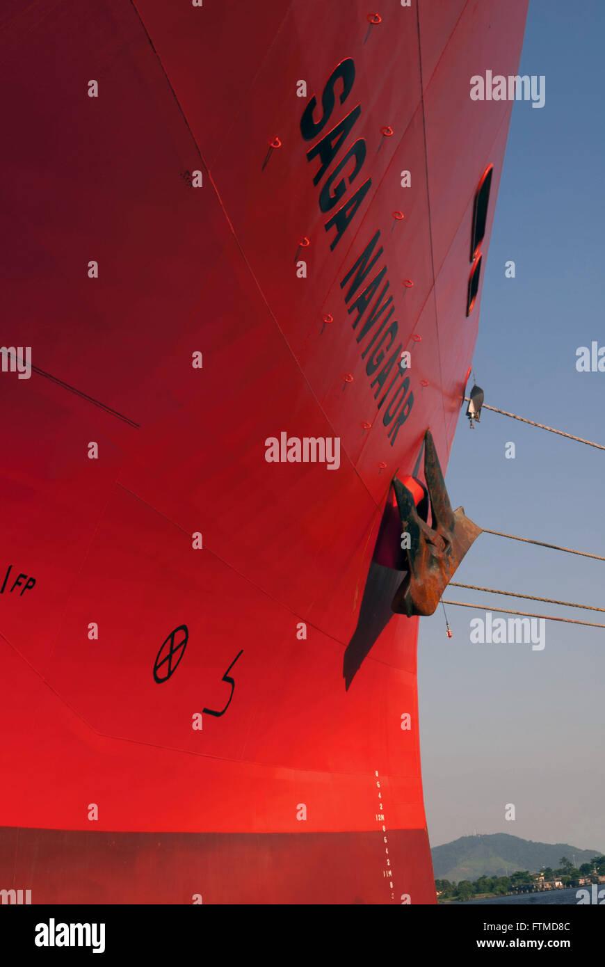Il proprietario della nave Saga vettori forestale agganciato sul lato del porto di Santos Immagini Stock