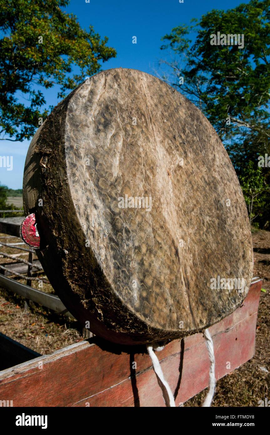 Lo strumento musicale utilizzato nelle tradizionali Marabaixo Immagini Stock