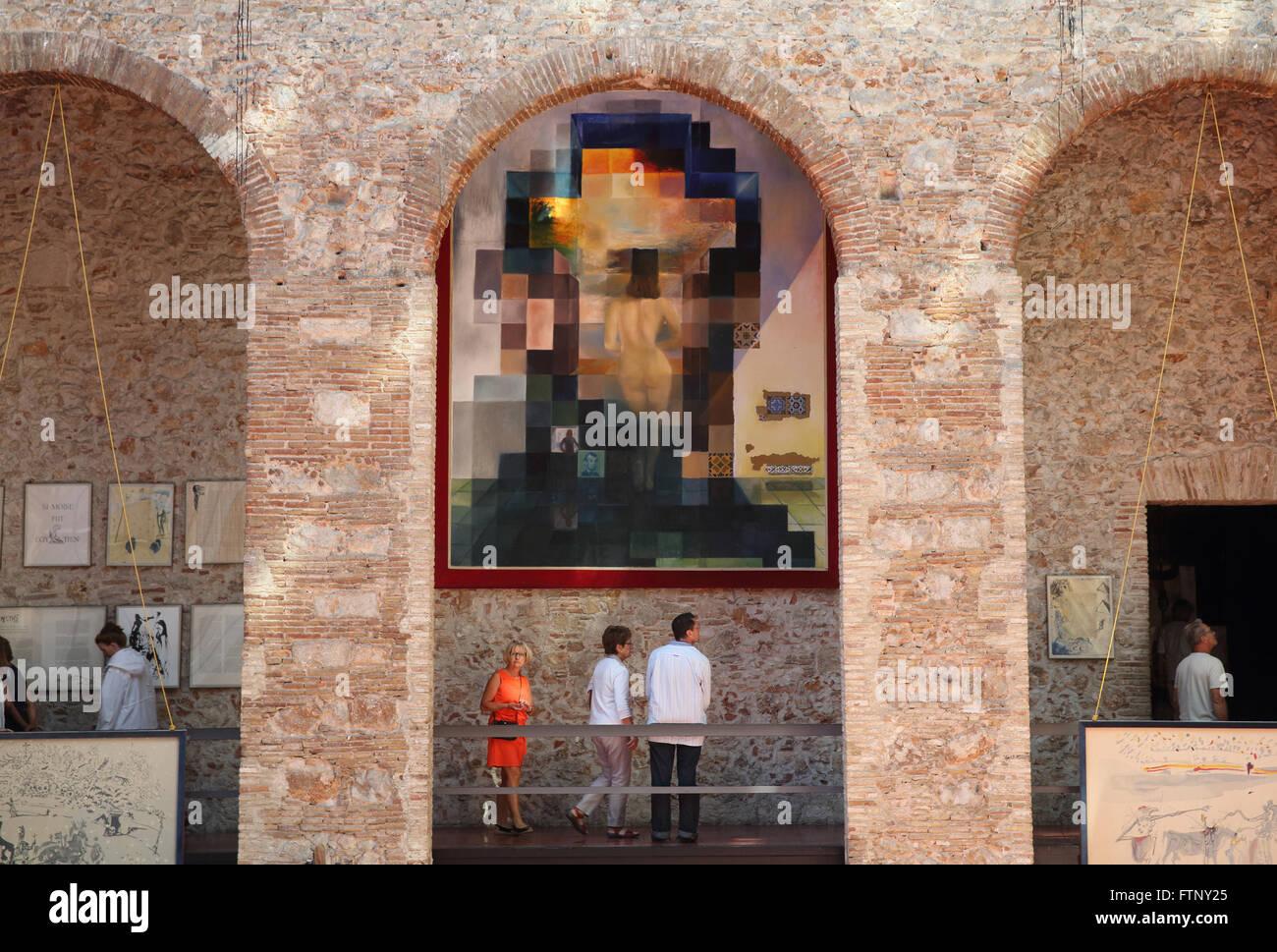 Lincoln in dalivision illusione ottica pezzo di illustrazione al teatro dali museo