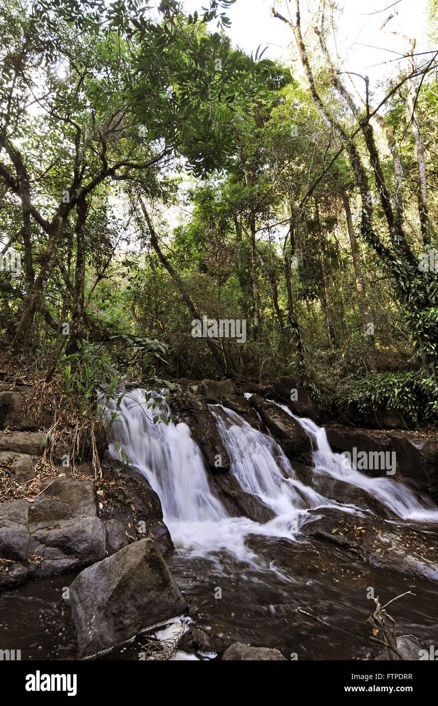 Cascata nella campagna di Sao Jose do Mato Dentro - Distretto di Ouro Fino - MG Immagini Stock