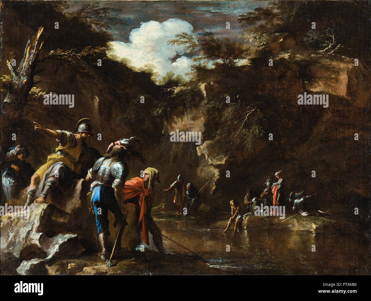 Salvator Rosa - Scena dalla storia greca Immagini Stock