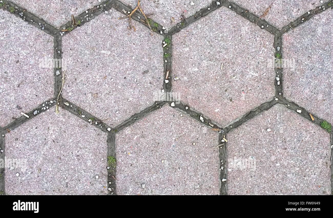 Hd texture seamless esagonale blocco di pietra pavimentazione per
