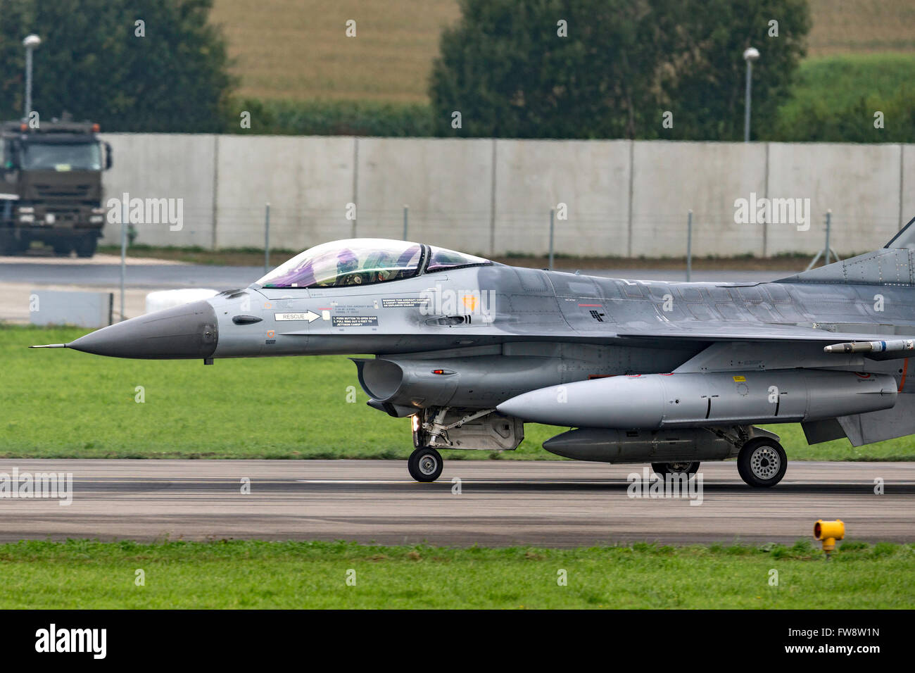 Belga componente aria General Dynamics F-16AM multirole fighter aircraft Immagini Stock