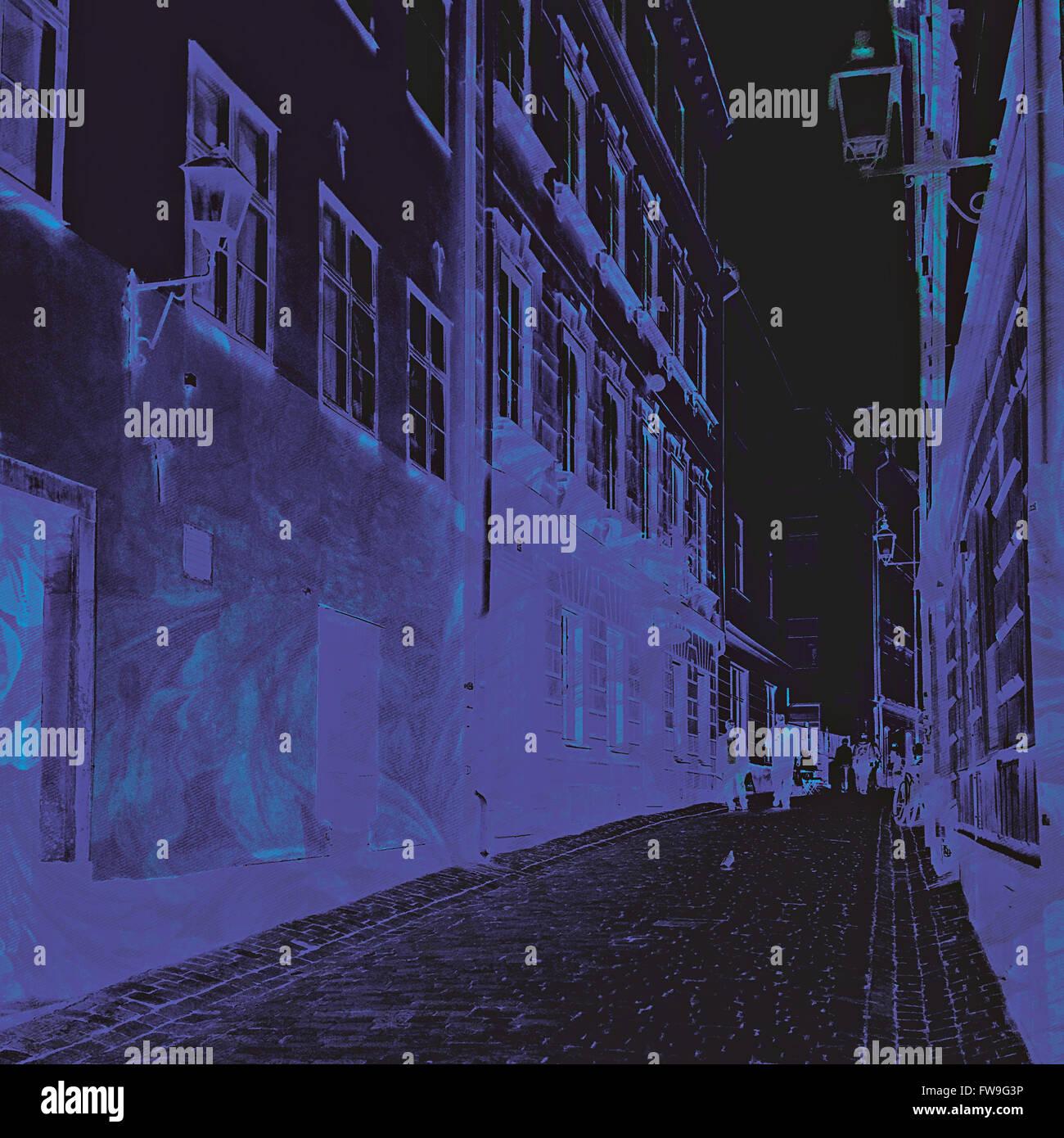 Abstract moderno graphic design arte digitale concept creativo Immagini Stock