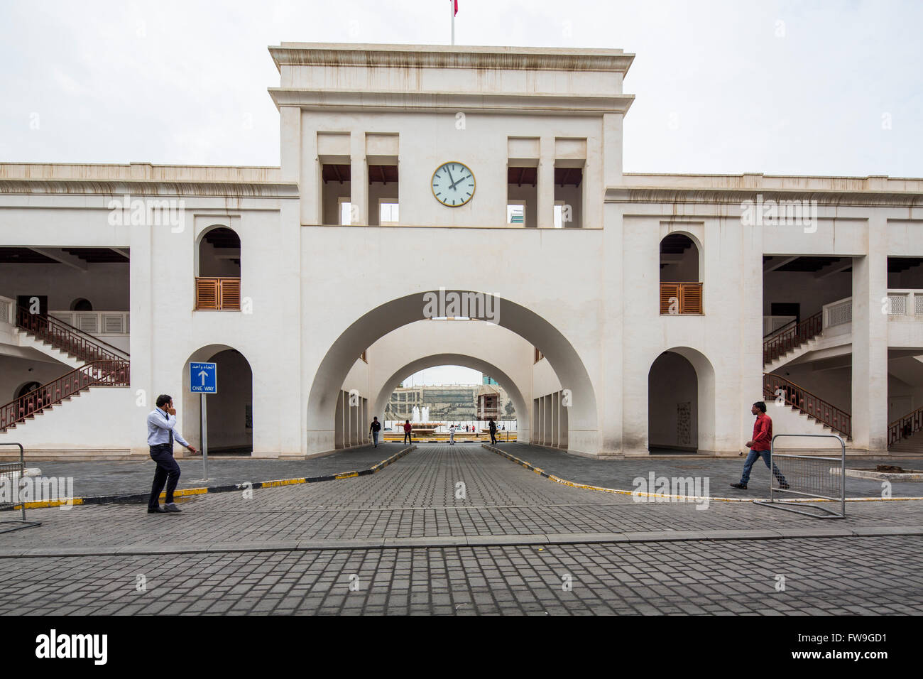 Bab Al Bahrain ad arco, Manama, Bahrain Immagini Stock