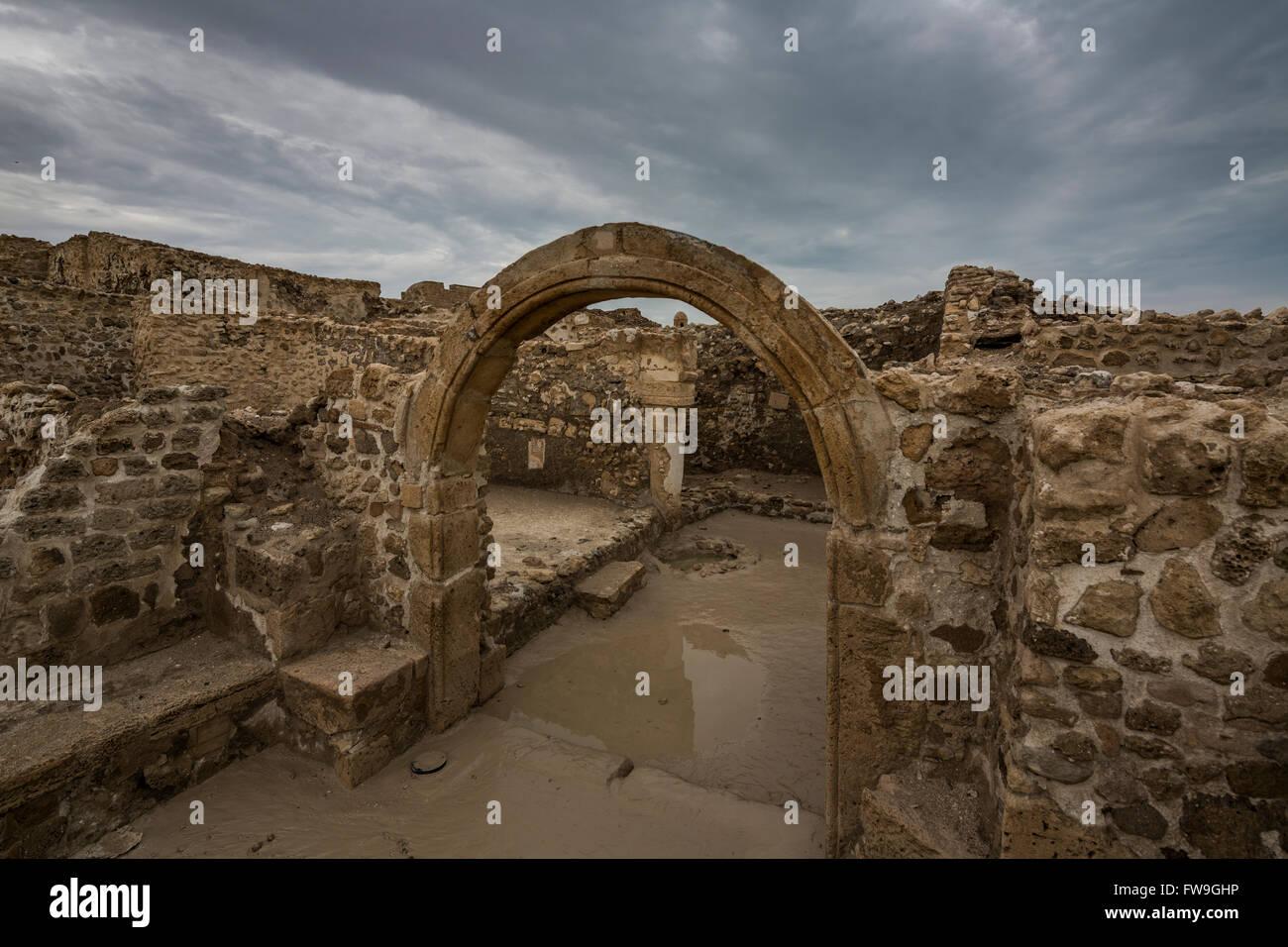 Qal'at al-Bahrain, noto anche come il Bahrain Fort Immagini Stock