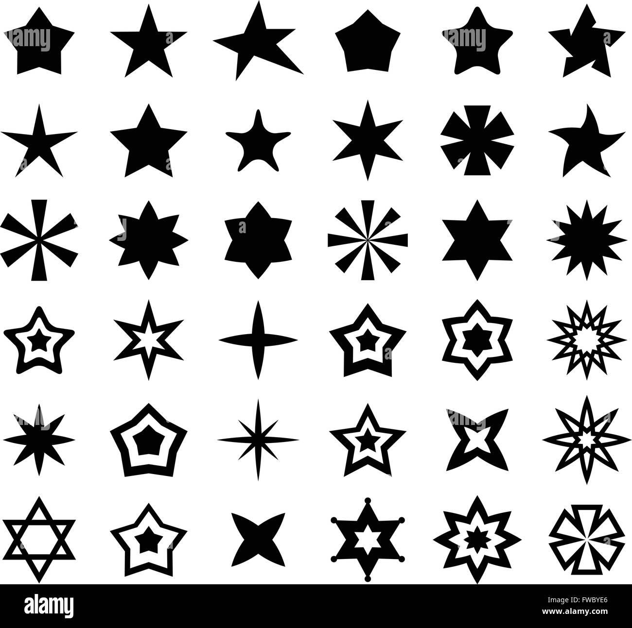 Segno della stella Immagini Stock