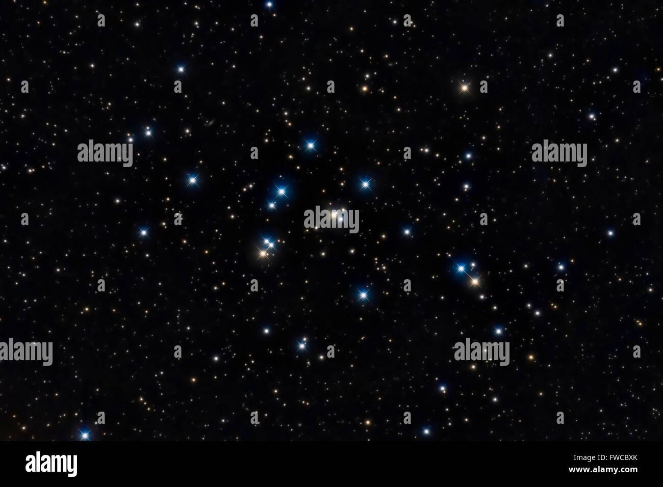 Colorate le stelle nel cielo notturno Immagini Stock