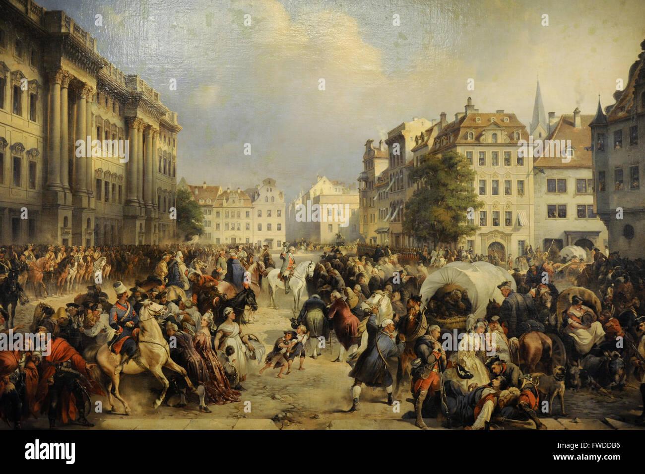 Alexander Kotzebue (1815-1889). Pittore tedesco. La cattura di Berlino il 28 settembre 1760, 1849. Lo stato Museo Foto Stock