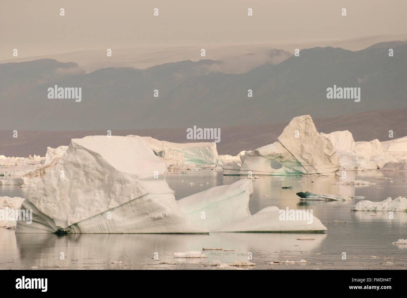 Iceberg - Scoresby Sound - Groenlandia Foto Stock