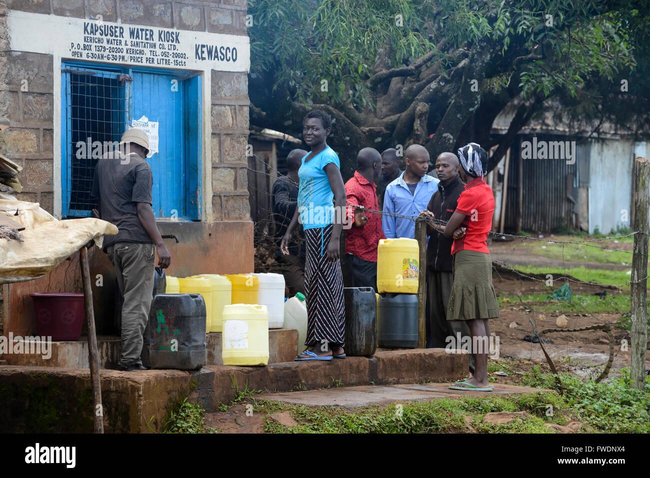 KENYA Kericho, acqua chiosco di Kericho acqua e servizi ...