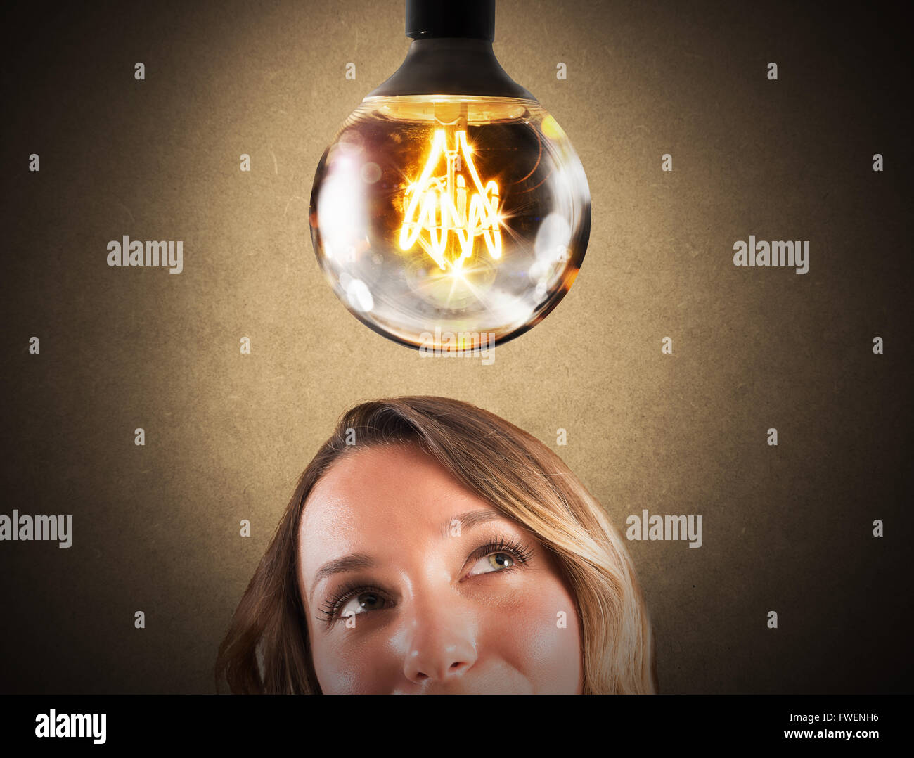 Lightbulb lucido Immagini Stock