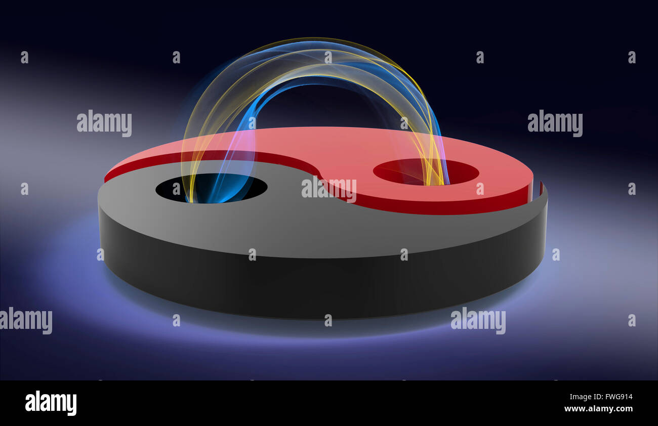 Ying e Yang loop di plasma, illustrazione. Immagini Stock