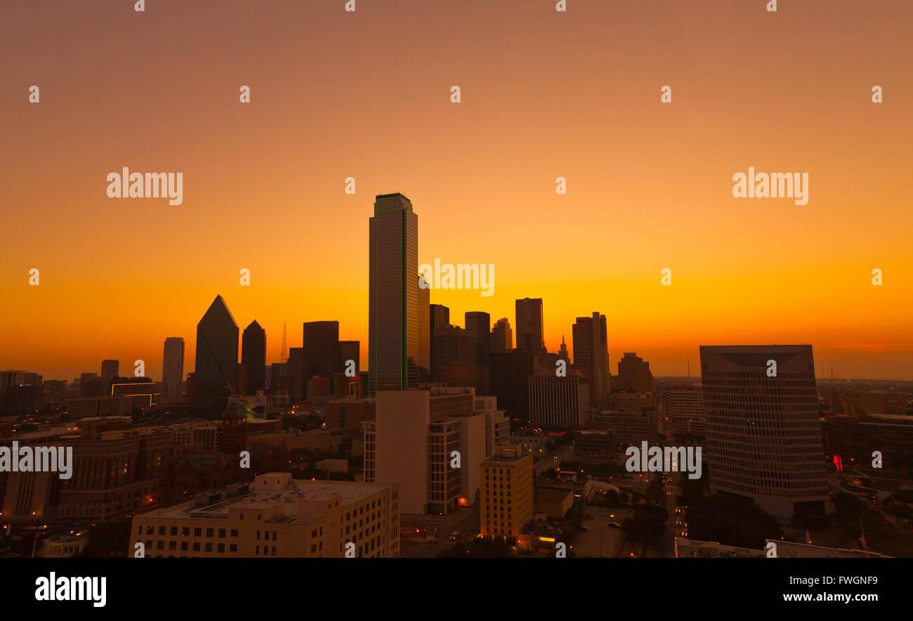 Skyline, Dallas, Texas, Stati Uniti d'America, America del Nord Immagini Stock
