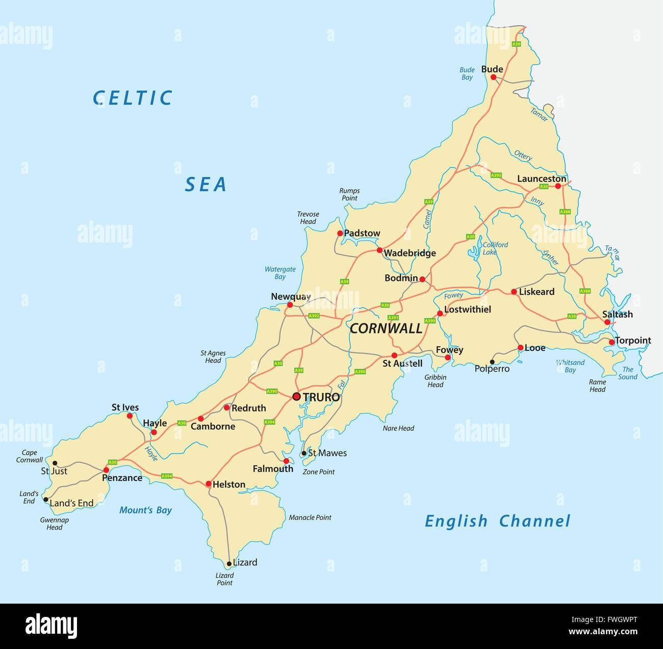 Cartina Cornovaglia.Mappa Della Cornovaglia Immagini Mappa Della Cornovaglia Fotos
