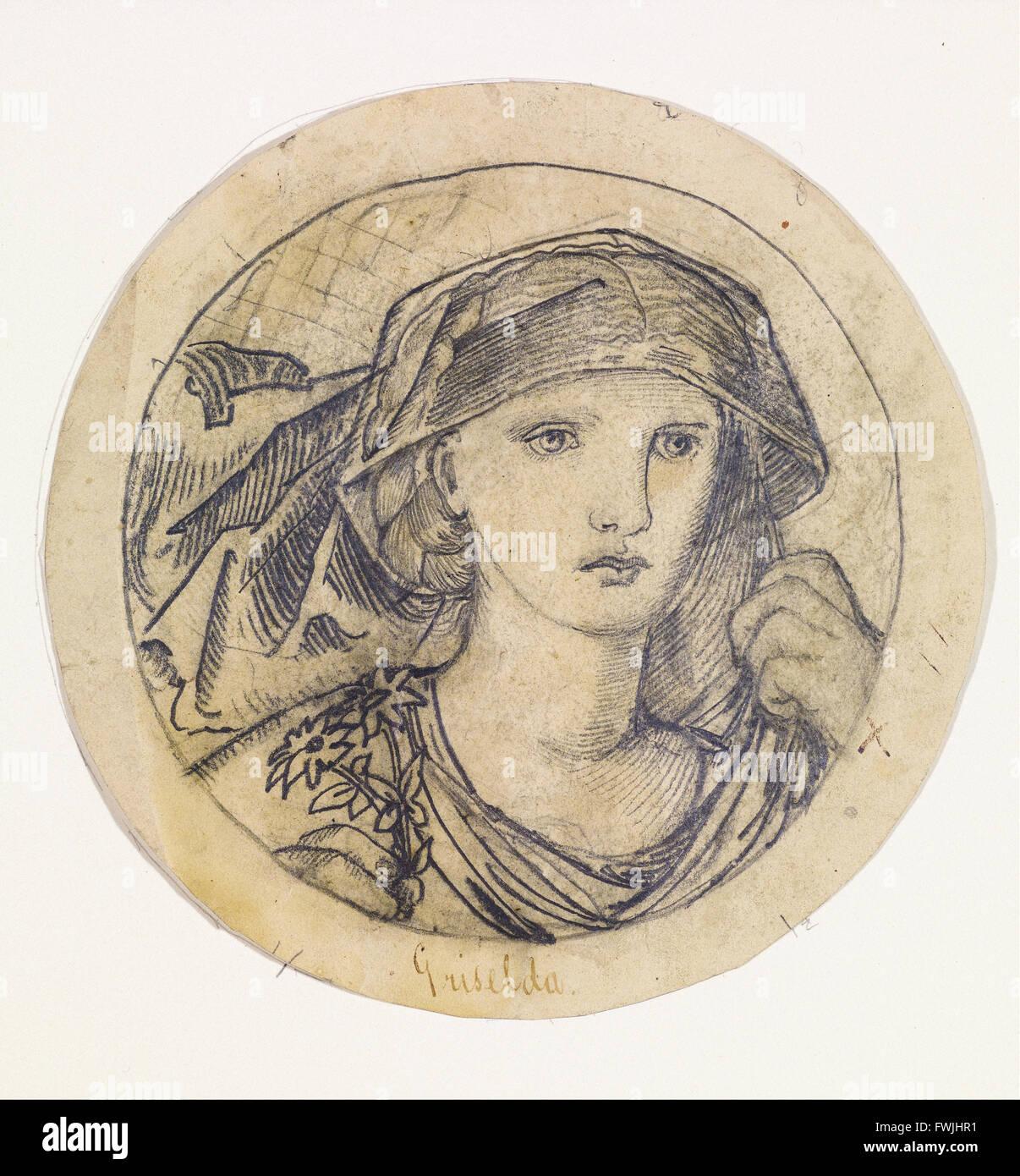 "Edward Burne-Jones - Chaucer ""Legenda di buone donne' - Griselda - Birmingham Museum & Art Gallery Immagini Stock"