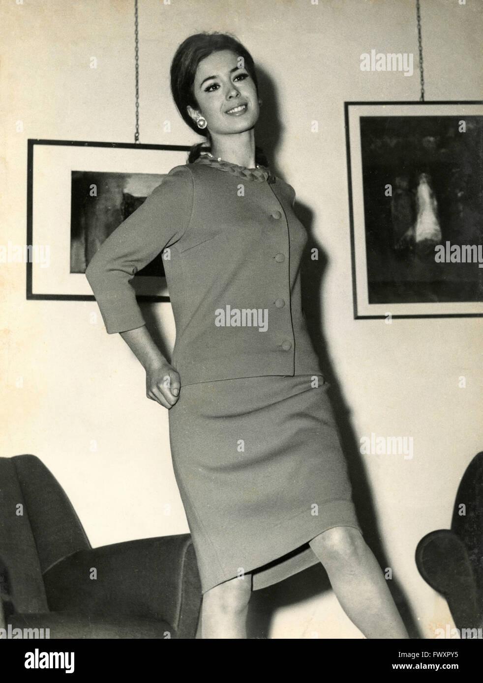 Un giovane modello 70s, Italia Immagini Stock