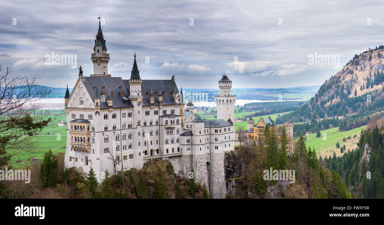 Il castello di Neuschwanstein in Baviera Germania Immagini Stock