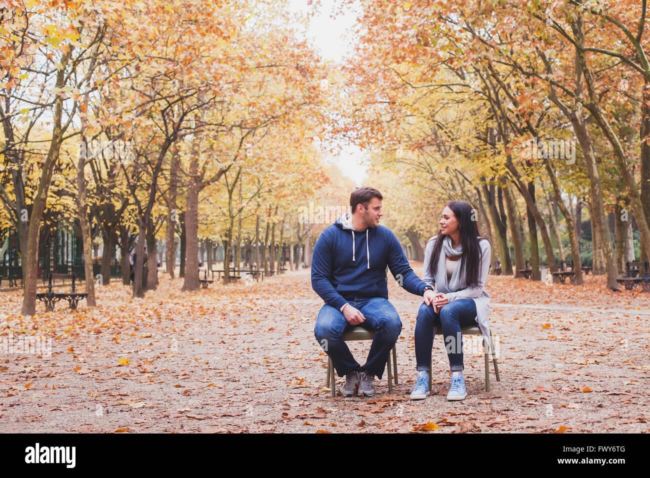 Un uomo e una donna relazione, psicologia familiare concetto, amore e dating Immagini Stock