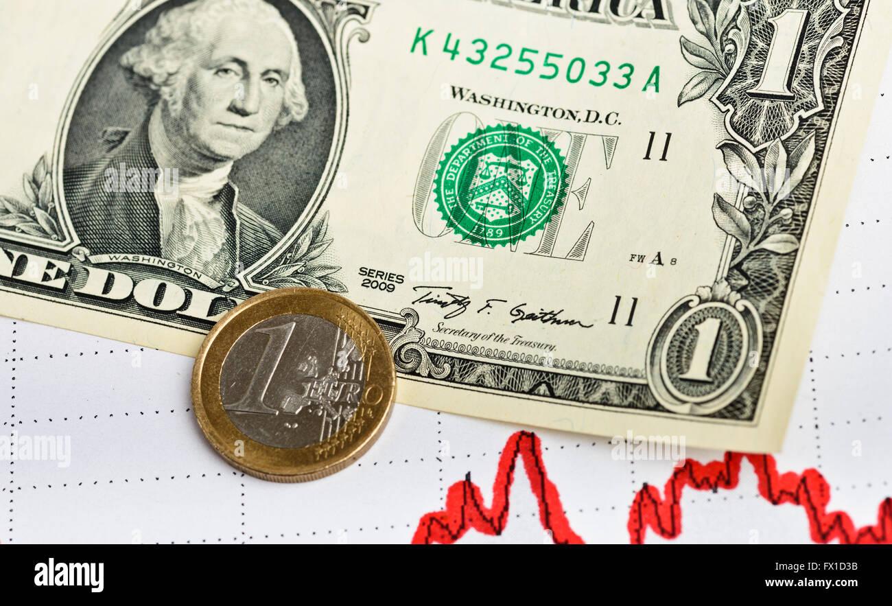 Di dollari grafico disegnato. Il concetto di business. Immagine dai toni Immagini Stock