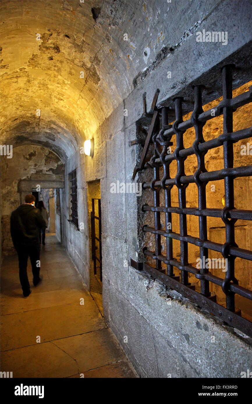 Le prigioni di Palazzo Ducale, Venezia, Veneto, Italia. Foto Stock