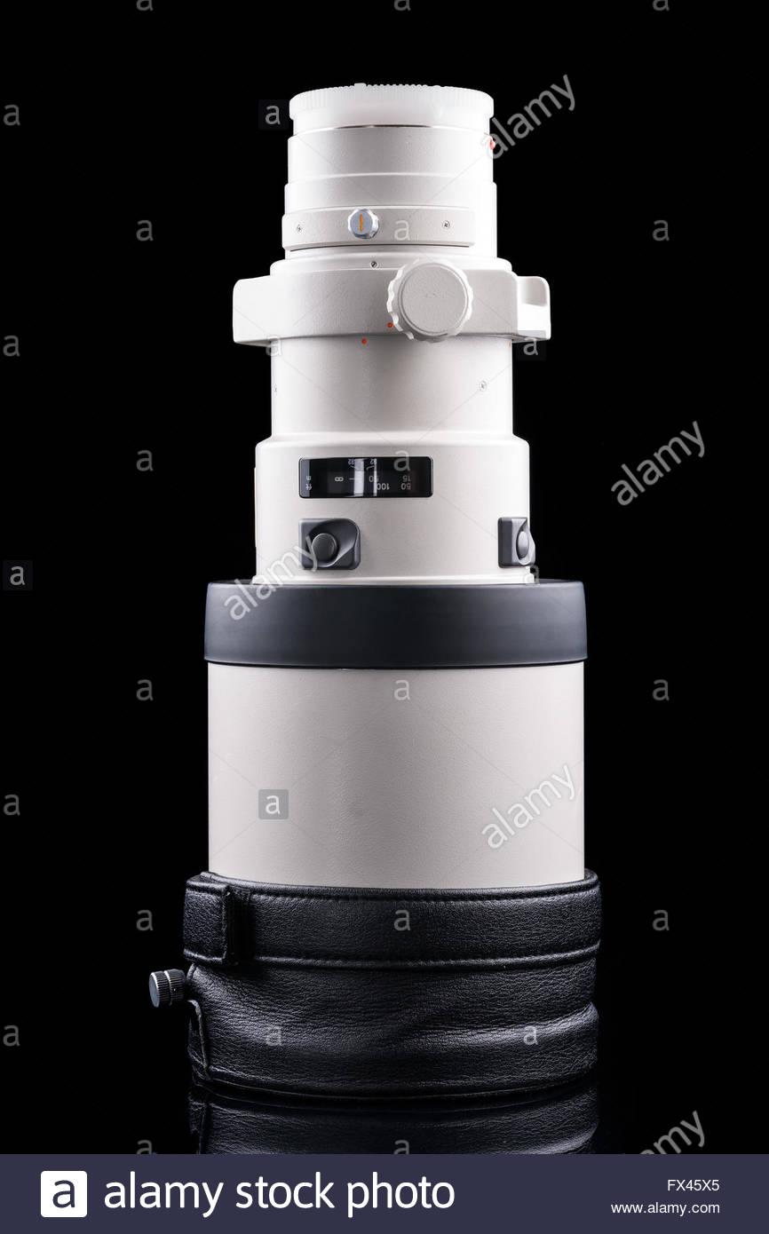 Minolta AF 400mm F4.5 HS APO G teleobiettivo lente primaria che può essere utilizzata con Sony un montaggio Immagini Stock