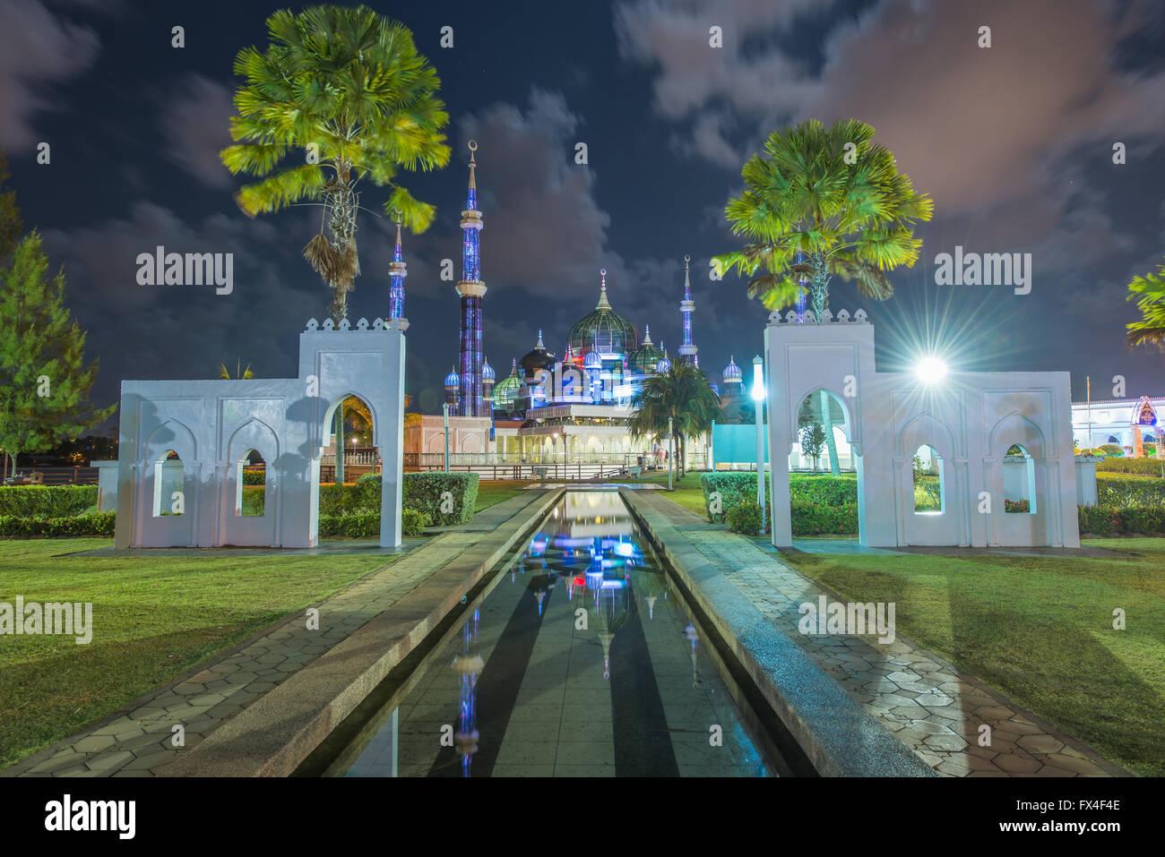 La moschea di cristallo a Kuala Terengganu, Terengganu, Malaysia Immagini Stock