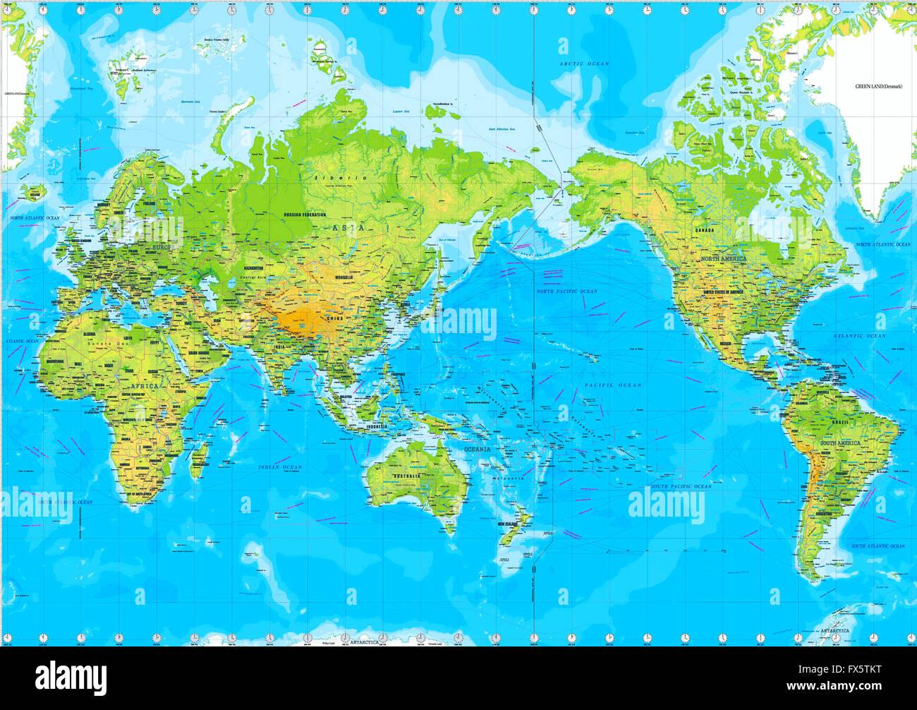 Cartina fisica del mondo foto immagine stock 102162028 - Mappa del mondo contorno ks2 ...