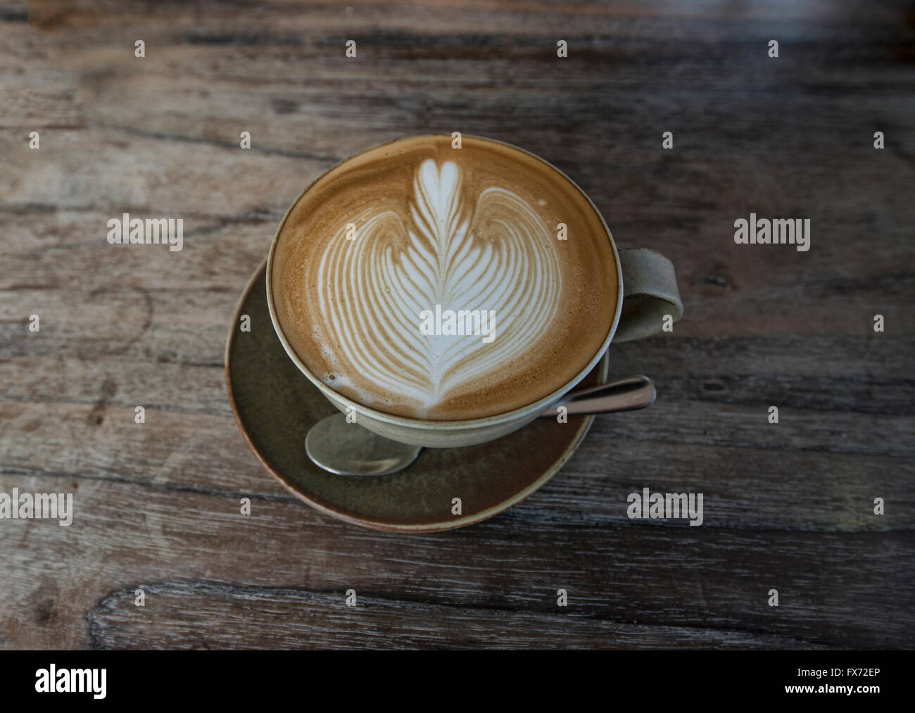 Latte Art in Chiang Mai Thailandia Immagini Stock