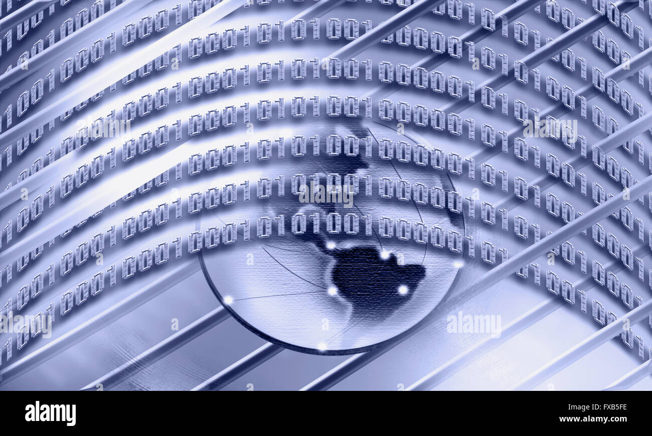Concetto di internet, globalizzazione, comunicazioni Immagini Stock