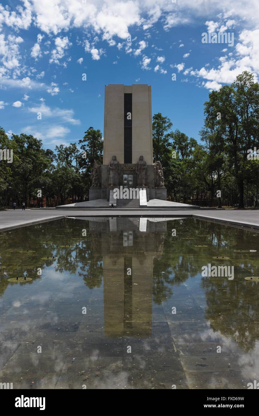 Monumento Alvaro Obregon, Città del Messico Immagini Stock