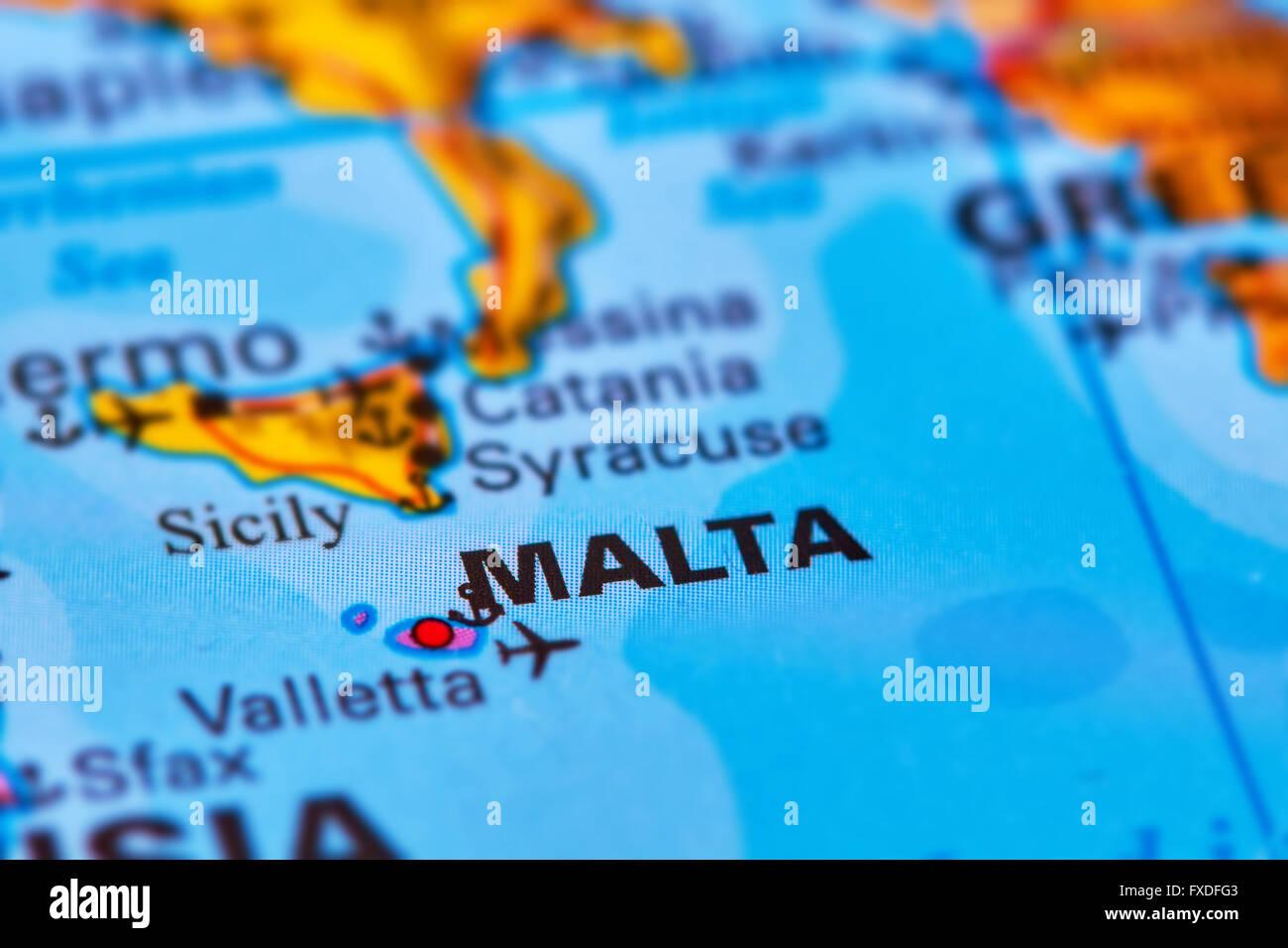 Isola Di Malta Cartina Geografica.Isole Di Malta In Europa Sulla Mappa Del Mondo Foto Stock Alamy