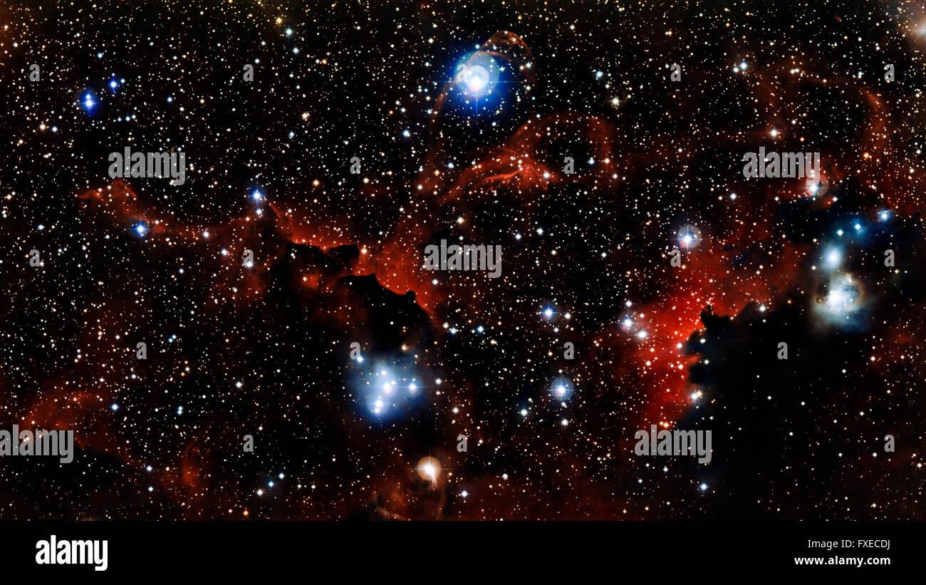 Stelle nebula, bello e colorato esplosivo nello spazio Immagini Stock