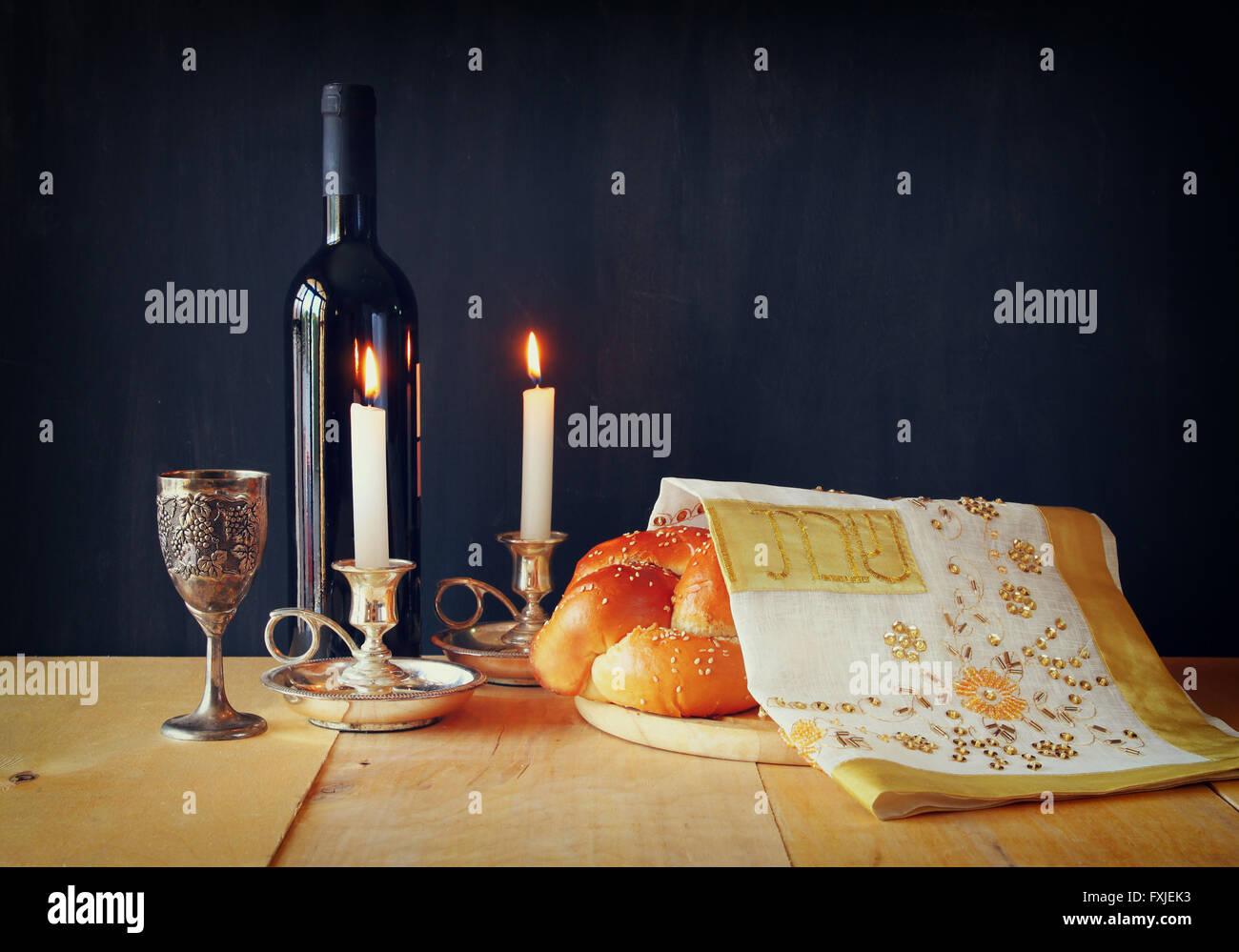Immagine di sabato. religione ebraica concept Immagini Stock