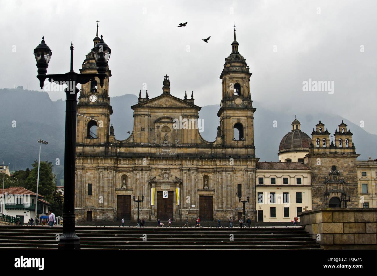 Plaza de Bolívar, Bogotà, Columbia Immagini Stock