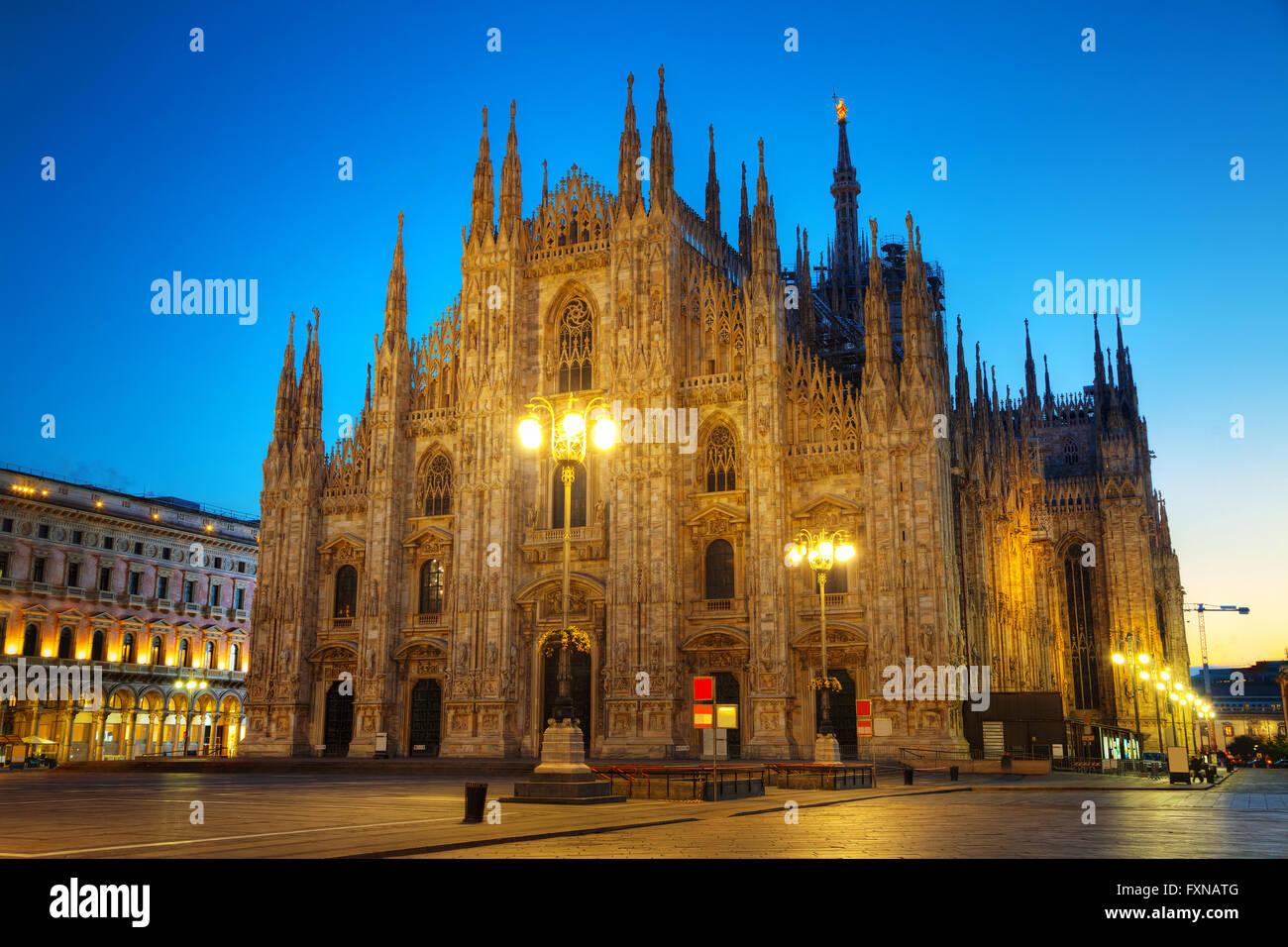 Duomo di mattina presto a Milano, Italia Immagini Stock