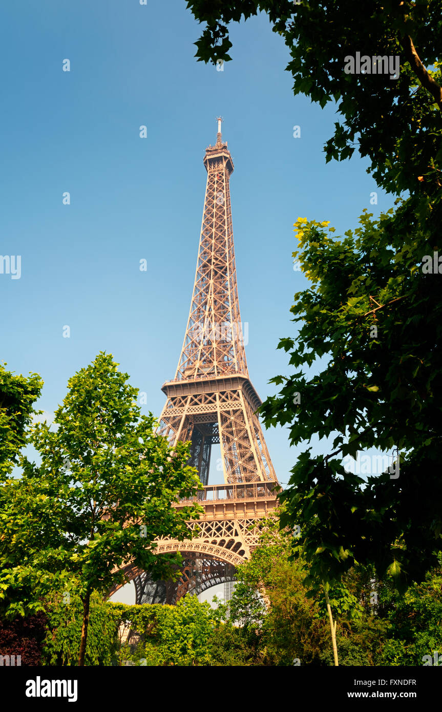 Torre Eiffel, Paris, Francia. Immagini Stock