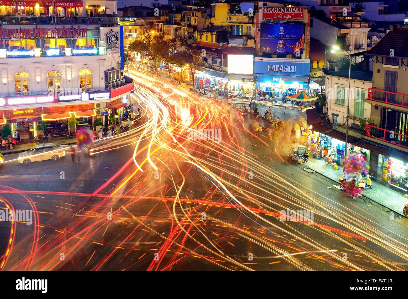 Prosciutto Mappa Ca bivio in Hanoi, Vietnam Immagini Stock