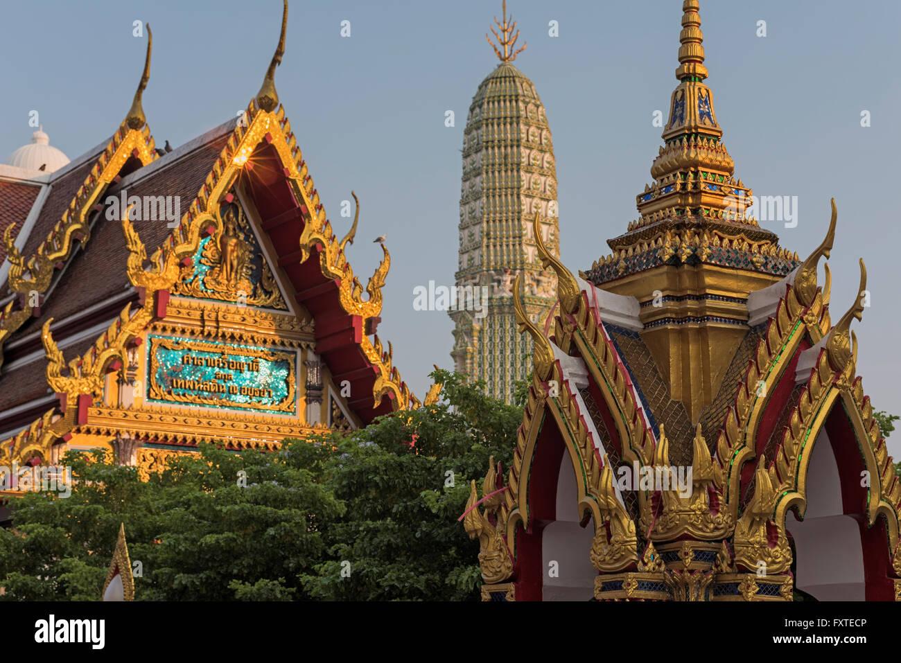 Wat Ratchaburana Bangkok in Thailandia Immagini Stock