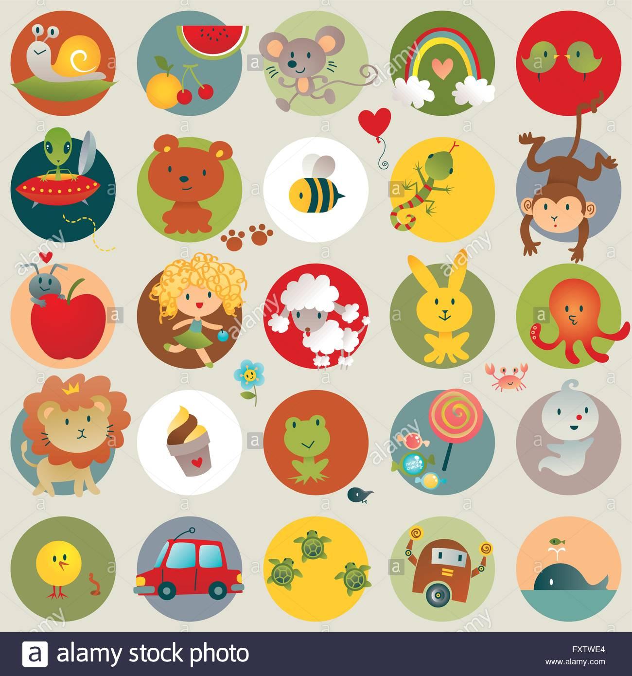 Simpatici Disegni Per Bambini Bambino Illustrazione Vettoriale