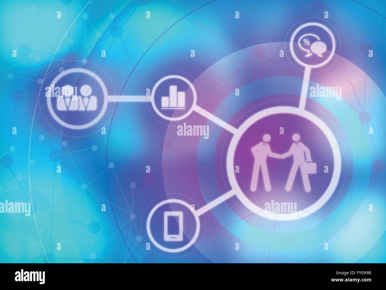 Immagine illustrativa di due imprenditori di chiusura della trattativa di business Immagini Stock