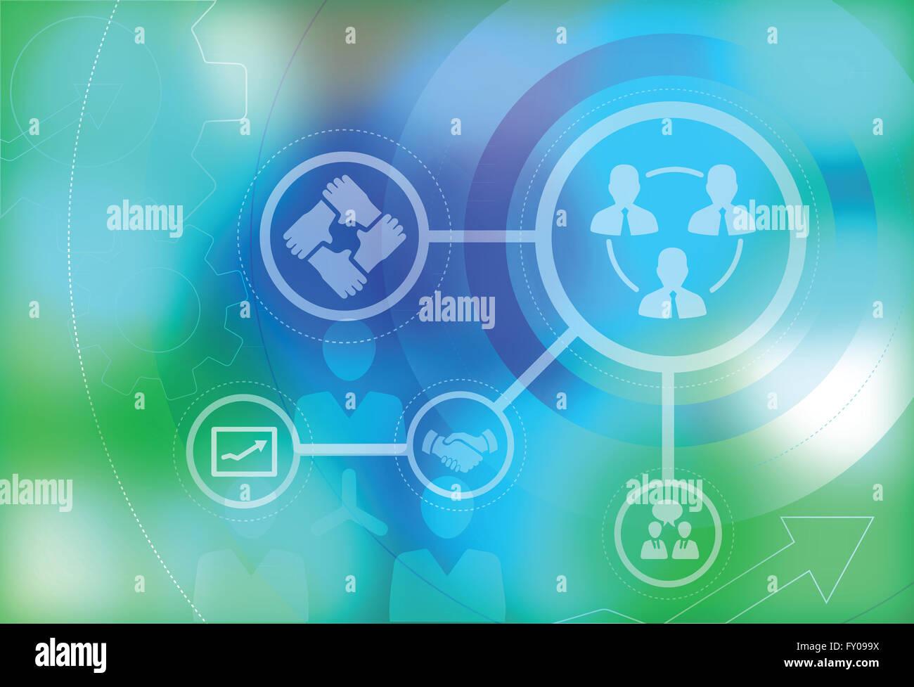Immagine illustrativa che rappresentano imprese il lavoro di squadra Immagini Stock