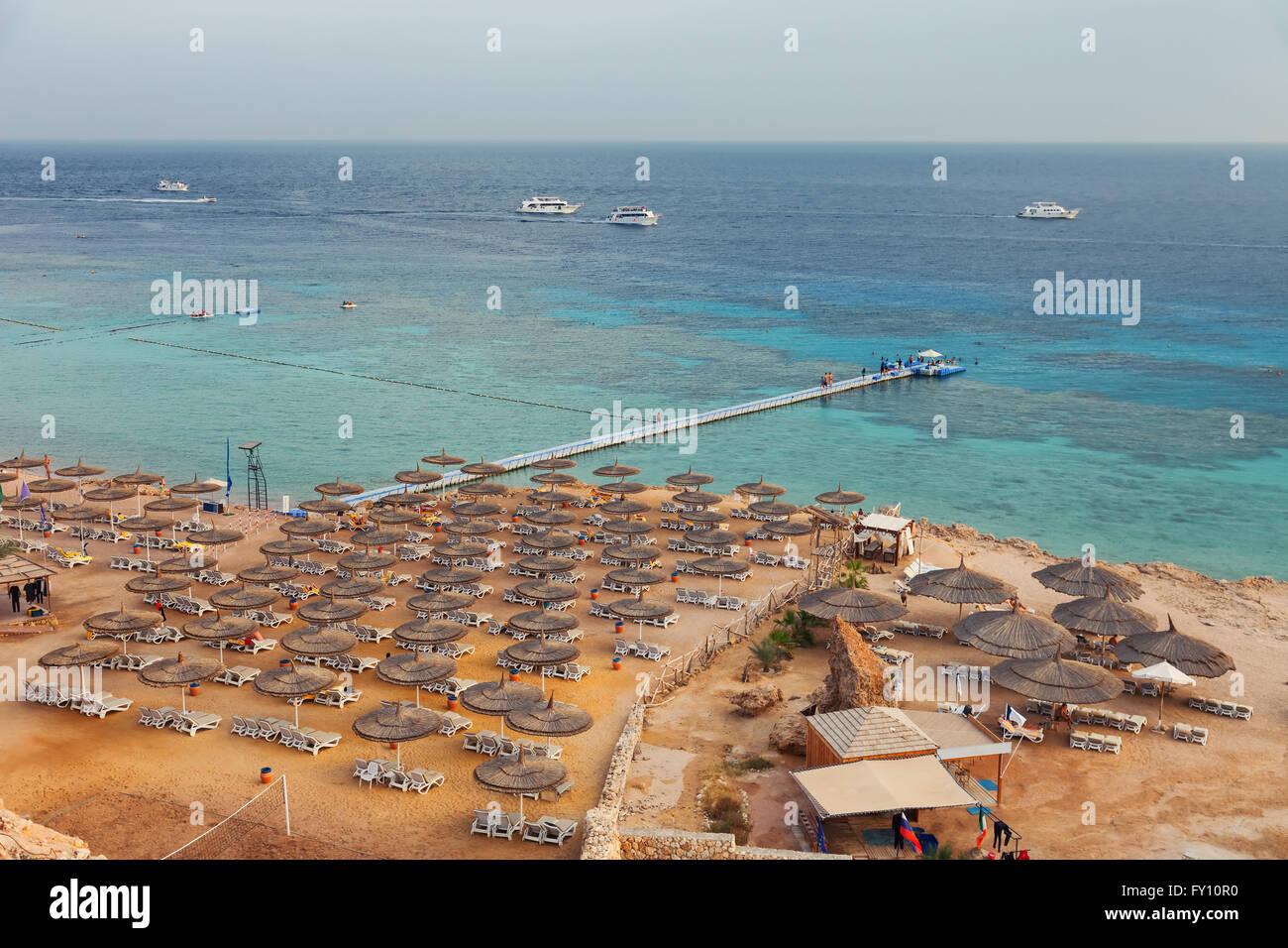 Costa del Mar Rosso in Egitto Sharm el sheikh Immagini Stock