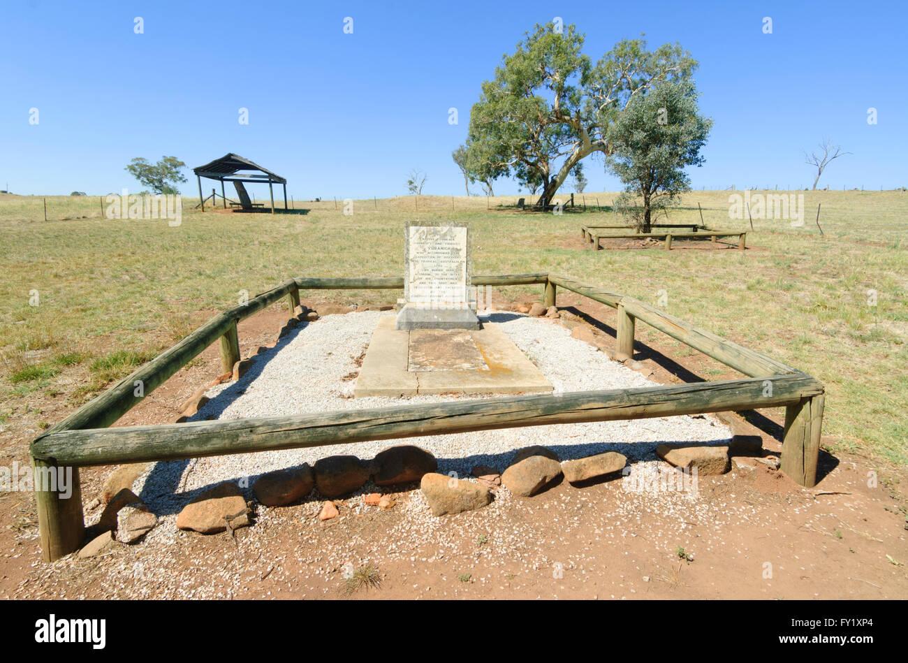 Guida aborigena Yuranigh's grave, nei pressi di Molon, Nuovo Galles del Sud, Australia Immagini Stock