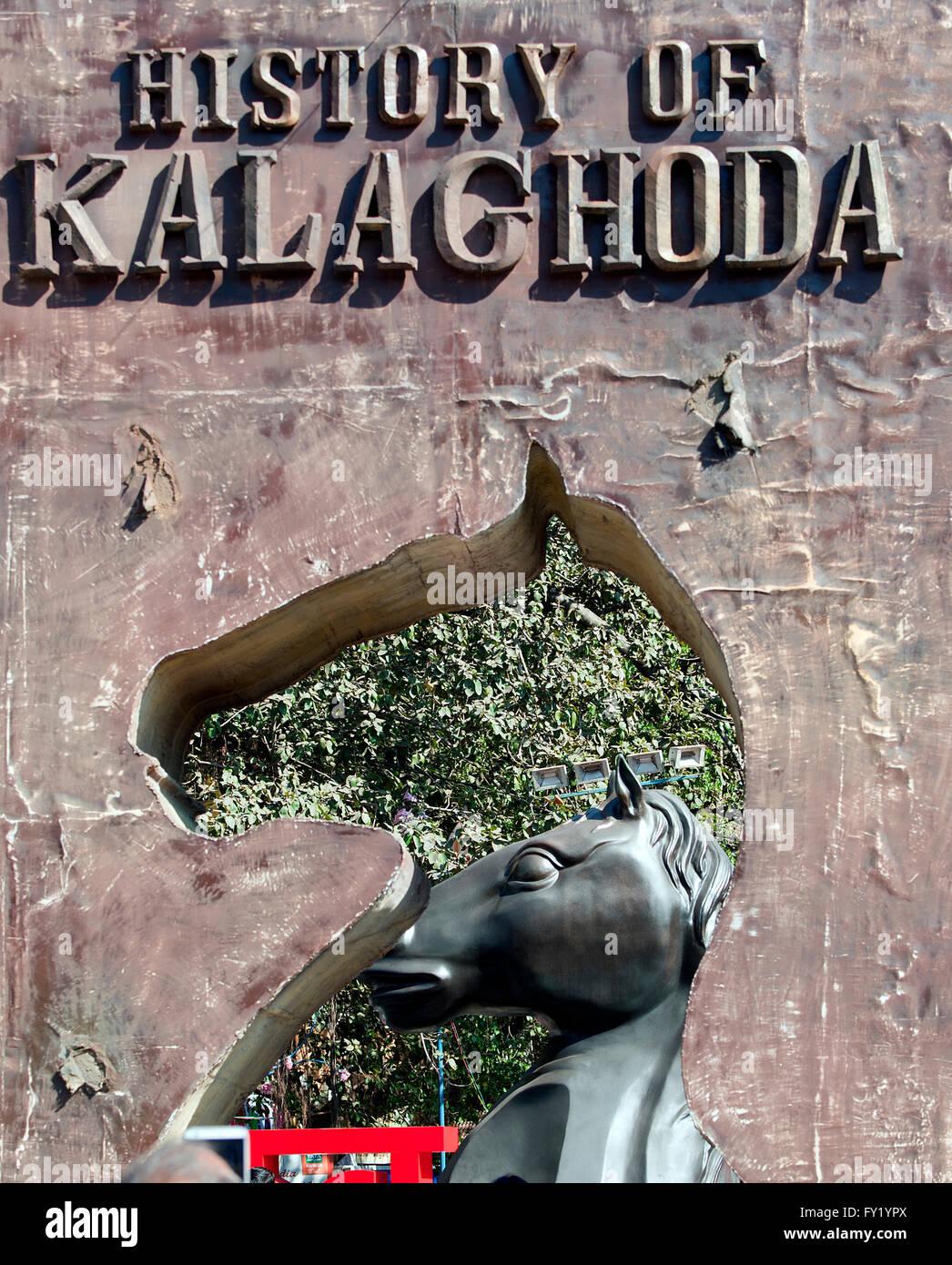 L'immagine di Kala godha festival Mumbai, Maharashtra, India Immagini Stock