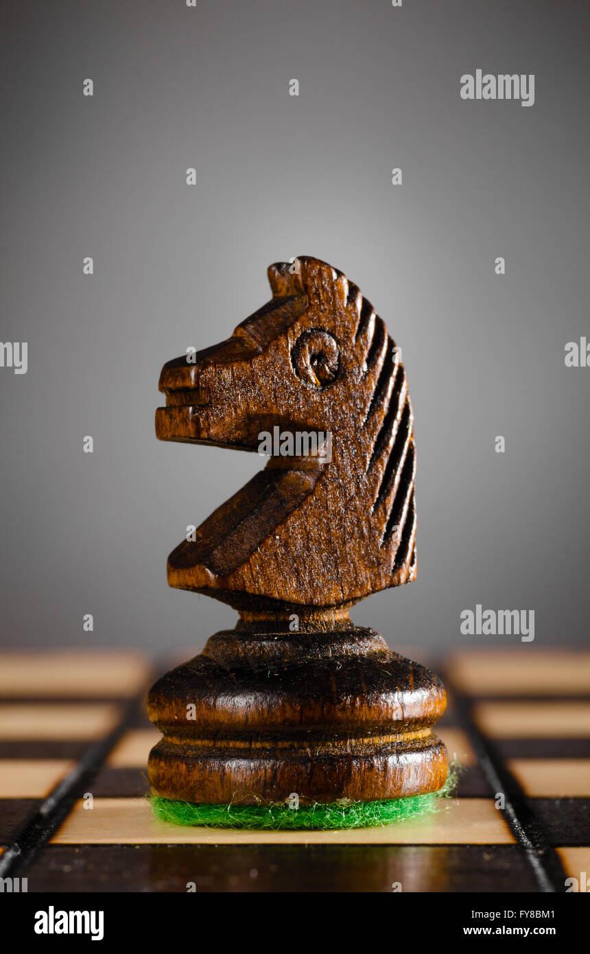 Cavaliere in legno Immagini Stock