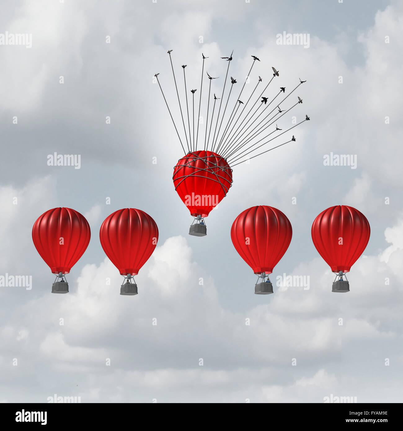 Gruppo concetto guida il vantaggio competitivo e il vantaggio aziendale nozione come un gruppo di 3D illustrazione Immagini Stock