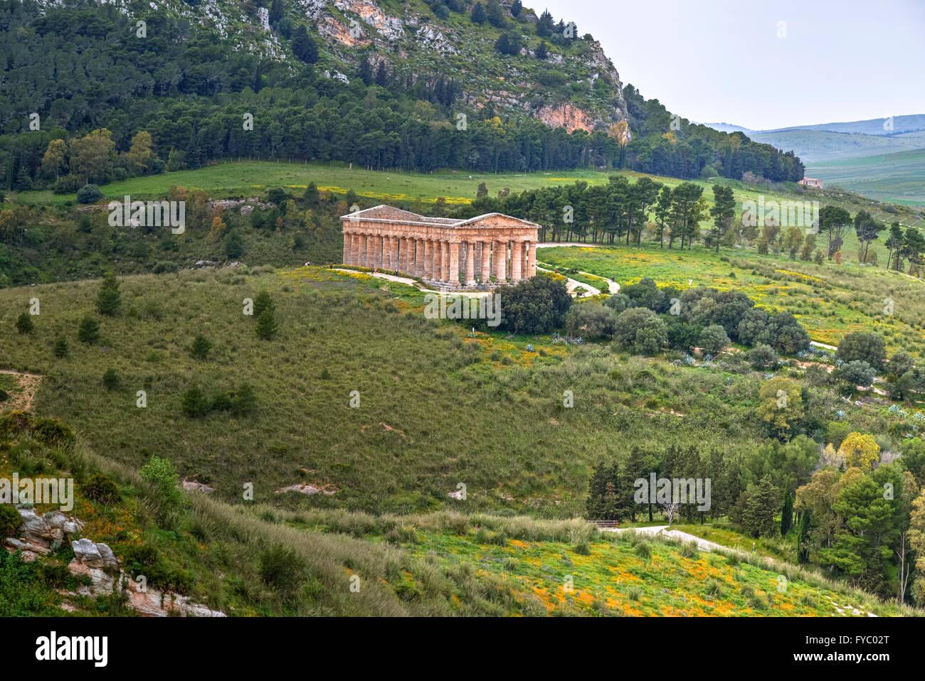 Segesta, Calatafimi, Trapani, Sicilia, Italia Immagini Stock