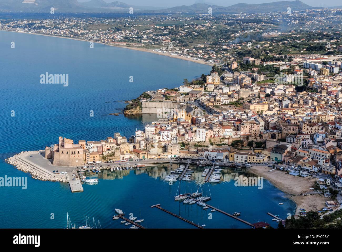 Castellammare del Golfo e Trapani, Sicilia, Italia Immagini Stock